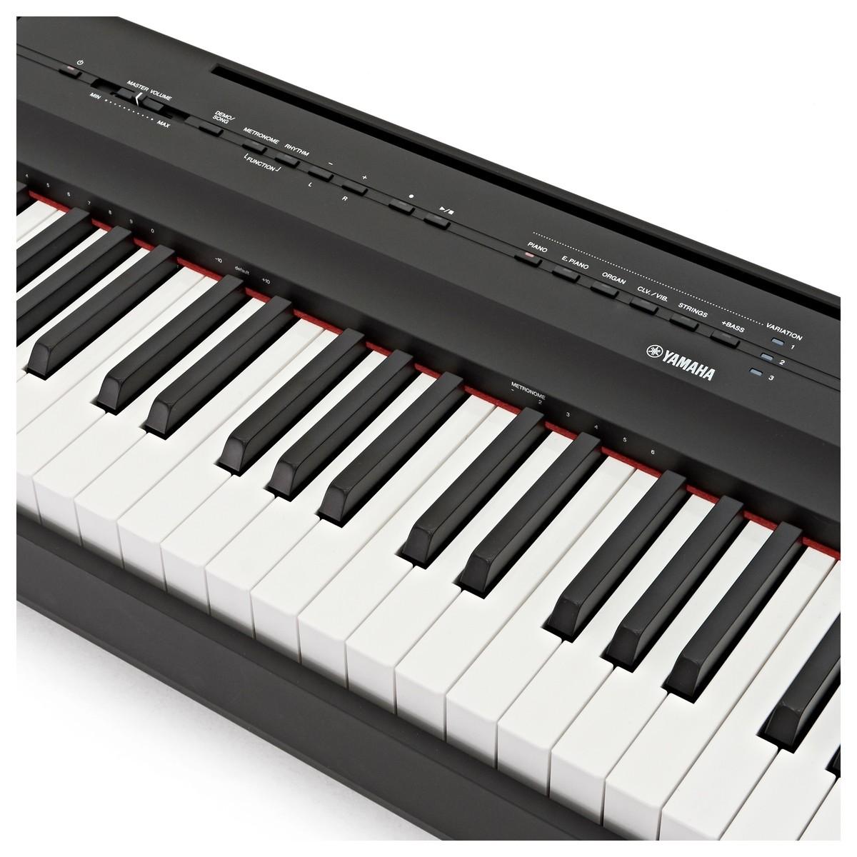 yamaha p125 digital piano black at gear4music. Black Bedroom Furniture Sets. Home Design Ideas