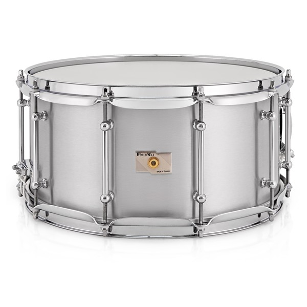 WorldMax 14'' x 6.5'' Seamless Aluminum Snare Drum, Chrome HW