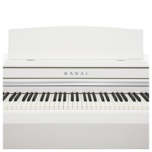 Kawai CA58 Digital Piano, Satin White close