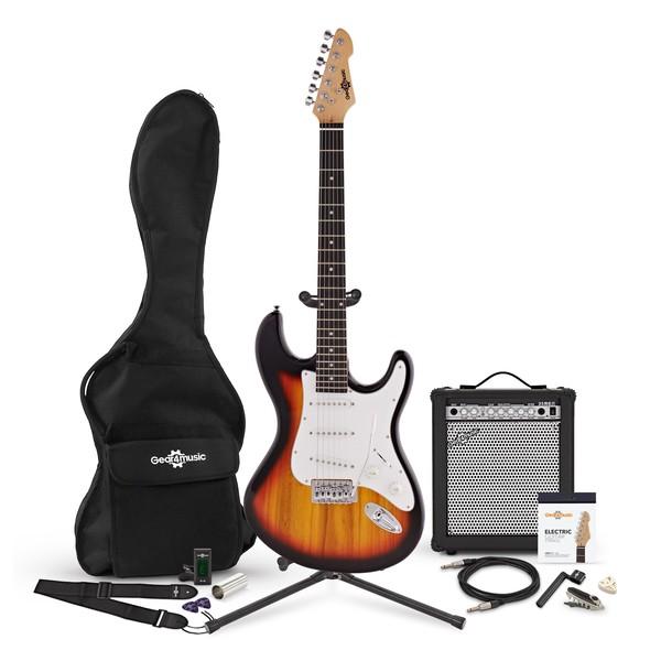 LA Electric Guitar + 35W Complete Amp Pack, Sunburst