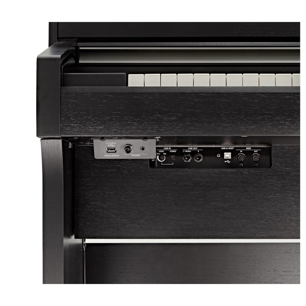 Kawai CA58 Digital Piano, Satin Black ports