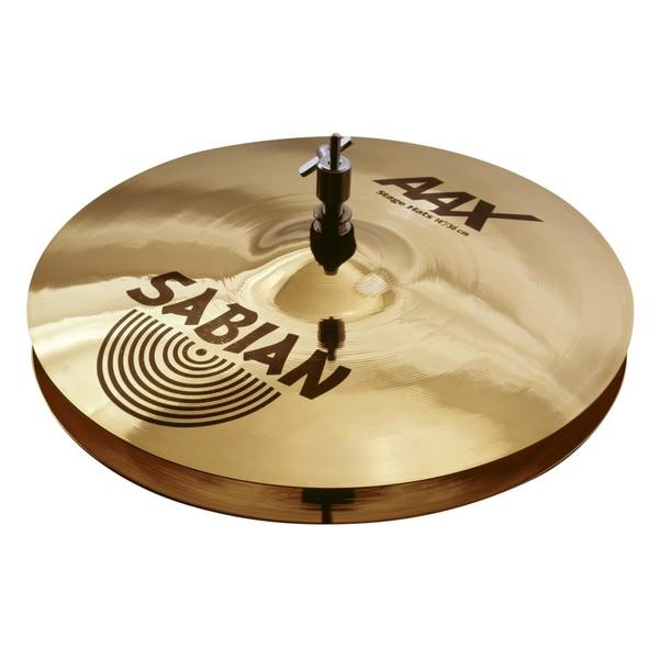 Sabian AAX 14'' Stage Hi-Hat Cymbals, Brilliant Finish - Main Image
