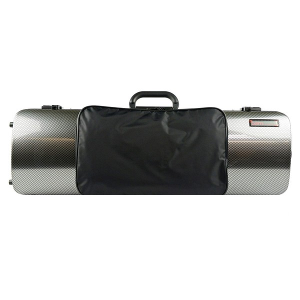 BAM 2011XL Hightech Violin Case, Silver Carbon Look with Pocket