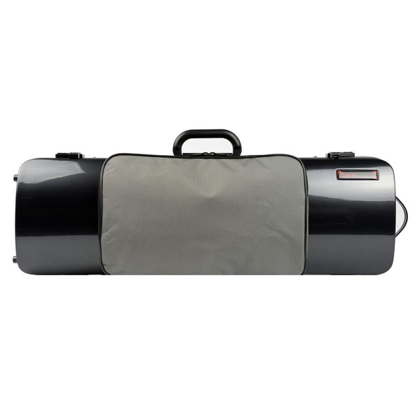 BAM 2011XL Hightech Oblong Violin Case with Pocket, Black Carbon Look