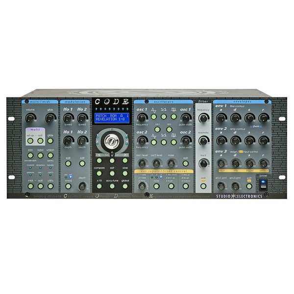 Studio Electronics CODE 8v OD with Both 5089 and SEM Filters FRONT PANEL