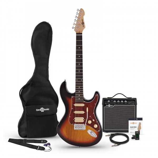 LA II Electric Guitar HSS + Amp Pack, Sunburst bundle