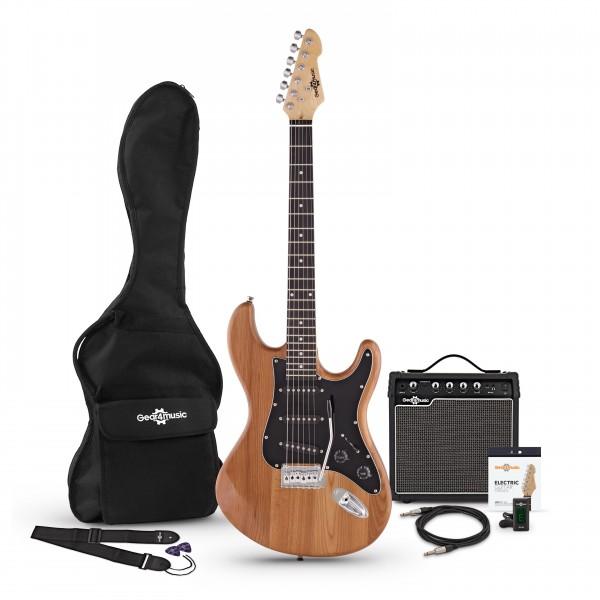 LA II Electric Guitar SSS + Amp Pack, Natural