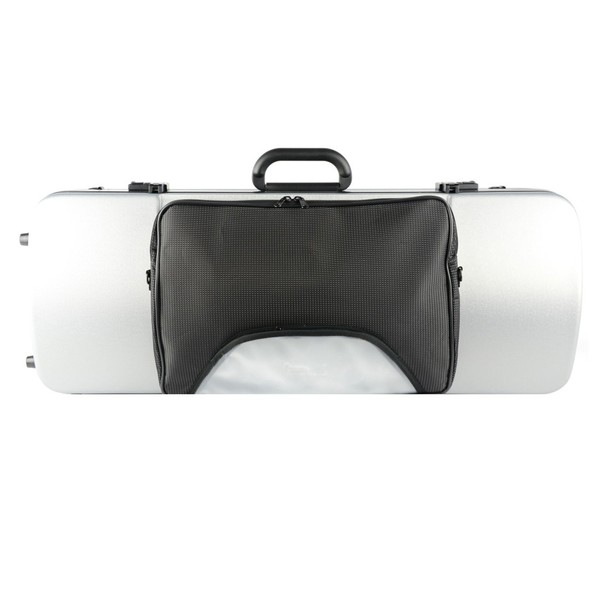 BAM 2202XL Hightech Oblong Viola Case, Pocket, Metallic Silver