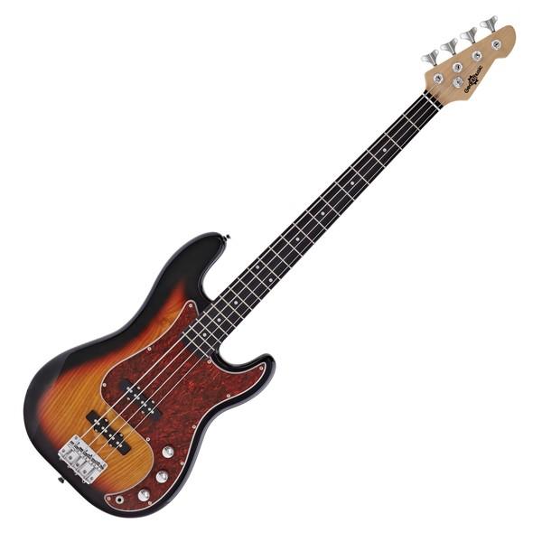 LA II Bass Guitar by Gear4music, Sunburst main
