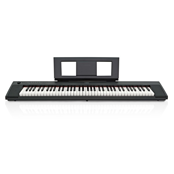 Yamaha Piaggero NP32 Portable Digital Piano, Black  front