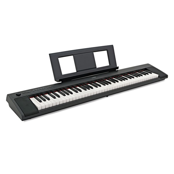 Yamaha Piaggero NP32 Portable Digital Piano, Black  angle