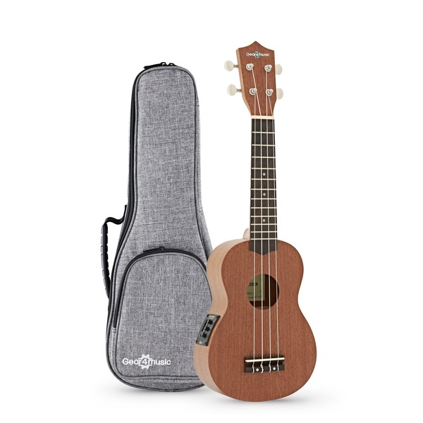 Deluxe Electro Acoustic Soprano Ukulele Pack by Gear4music