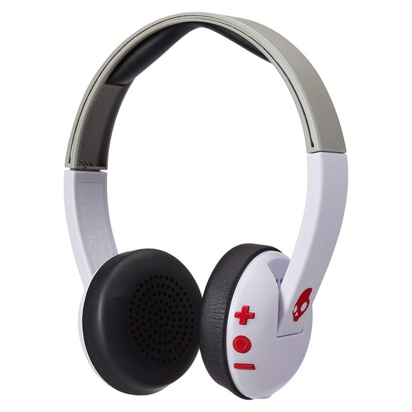 Skullcandy Uproar Wireless White/Grey/Red - Angled