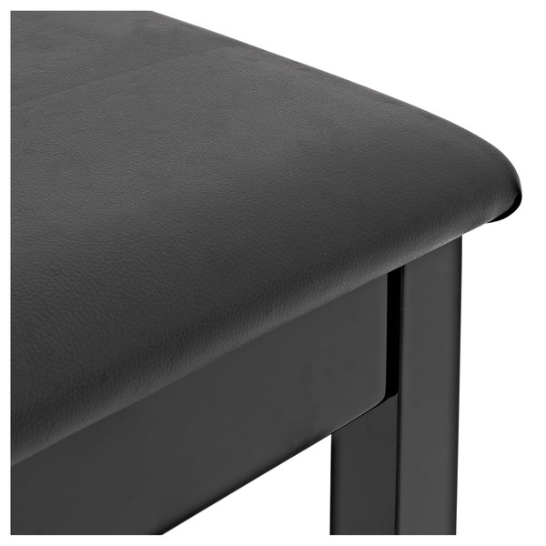 Piano Stool with Storage by Gear4music, Black