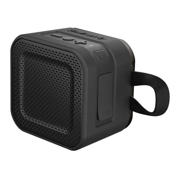 Skullcandy Barricade Mini BT Speaker, Black/Translucent - Angled