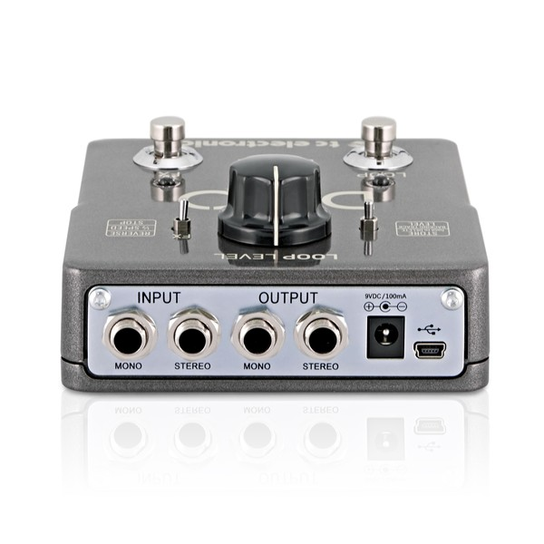 TC Electronic Ditto X2 Looper Pedal ports