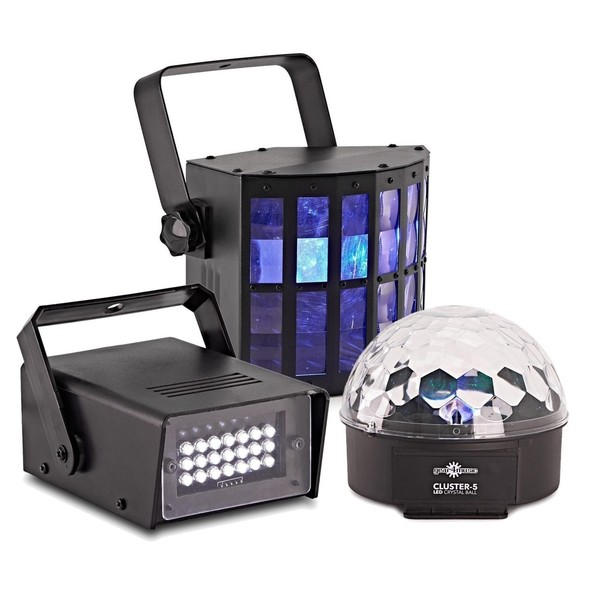 Cluster Party Lighting Pack with Strobe by Gear4music