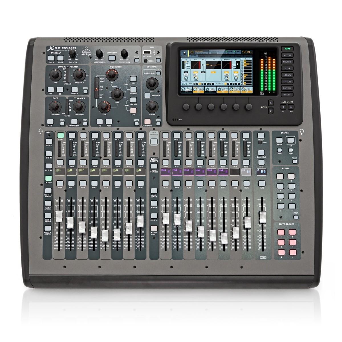 Behringer x 32 compact console de mixage num rique gear4music - Console numerique behringer ...
