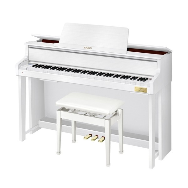 Casio GP300 Grand Hybrid Digital Piano, Satin White with Bench