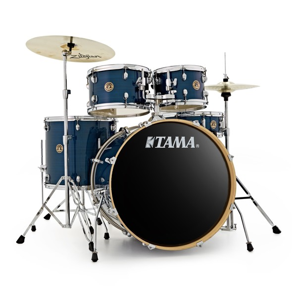Tama Rhythm Mate 22'' Drum Kit with Zildjian Cymbals, Hairline Blue