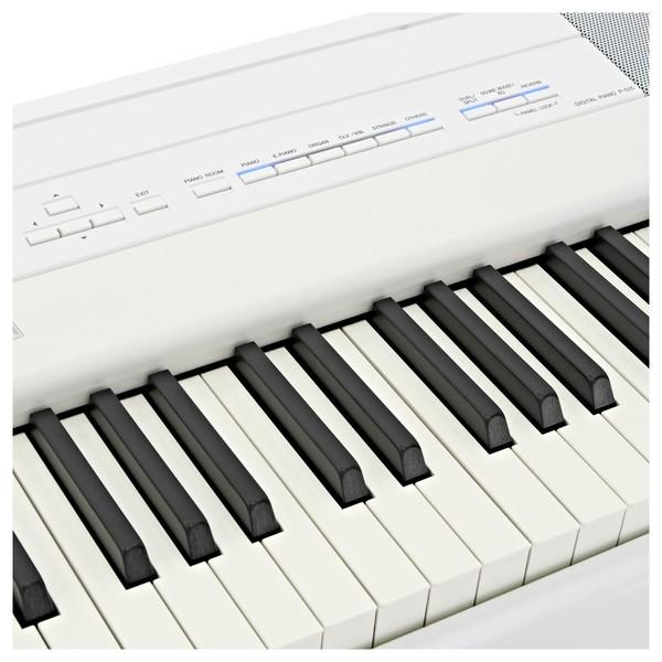 Yamaha P515 Digital Piano, White close angle