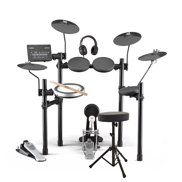 Yamaha DTX482 Electronic Drum Kit with Headphones, Stool + Sticks - Main Image