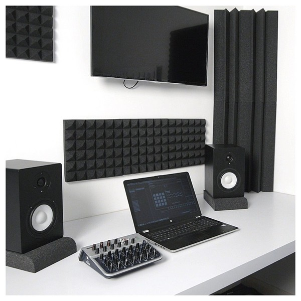 AcouFoam 30cm Acoustic Panels by Gear4music, Pack of 16