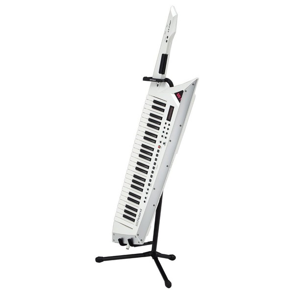 Roland AX-Edge Keytar, White with Stand - Full Bundle