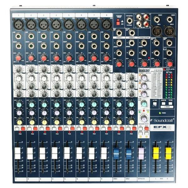 Soundcraft EFX8 Mixer Top Down