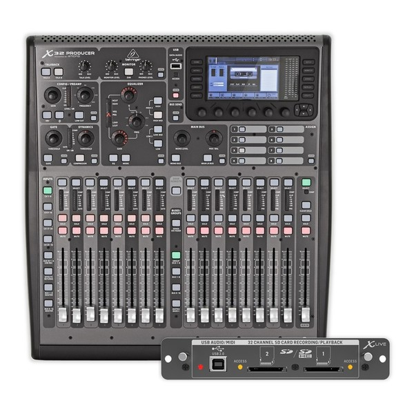Behringer X32 PRODUCER Digital Mixer with X-LIVE Expansion Card