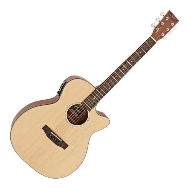 Badger Single Cutaway Acoustic Guitar, Natural