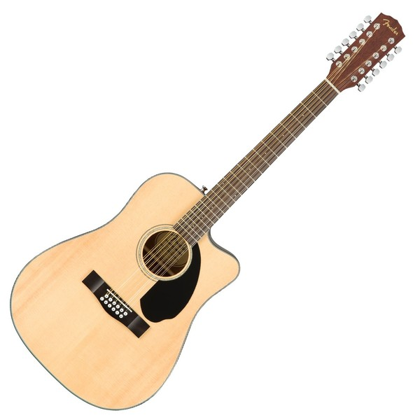 Fender CD-60SCE Dreadnought 12 String Acoustic, Natural - Main