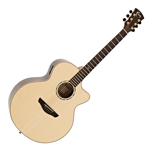 Faith Jupiter Cutaway Electro Acoustic, Hi Gloss Natural main