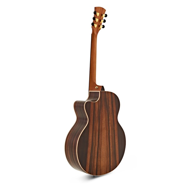 Faith Jupiter Cutaway Electro Acoustic, Hi Gloss Natural back