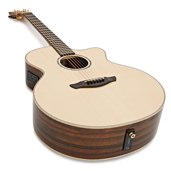Faith Jupiter Cutaway Electro Acoustic, Hi Gloss Natural angle
