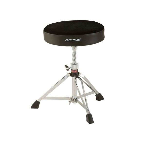 Ludwig Double Braced Round Top Stool, Fabric