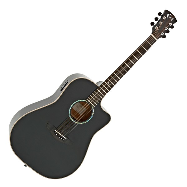 Faith Eclipse Saturn Dreadnought Electro Acoustic, Black Gloss main