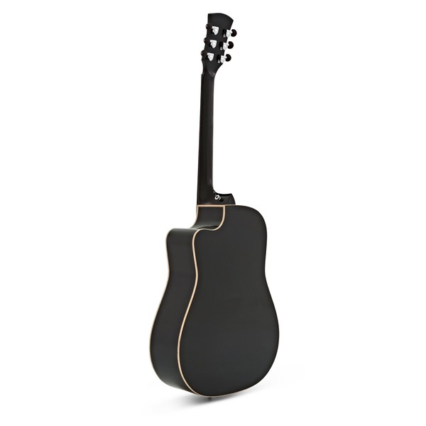 Faith Eclipse Saturn Dreadnought Electro Acoustic, Black Gloss back
