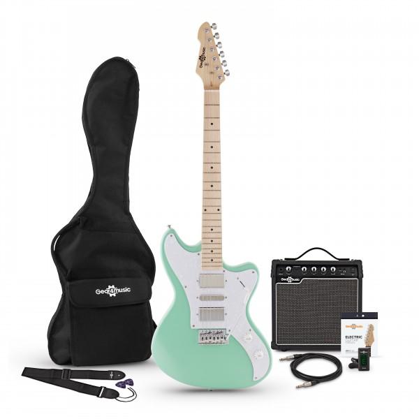 Seattle Electric Guitar + Amp Pack, Seafoam Green