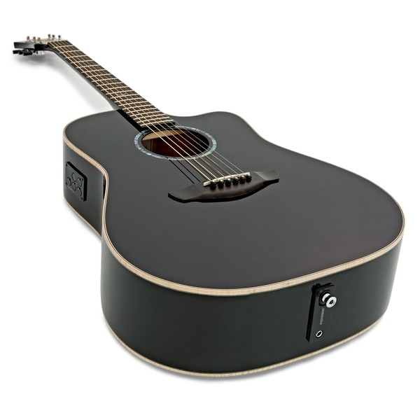 Faith Eclipse Saturn Dreadnought Electro Acoustic, Black Gloss angle