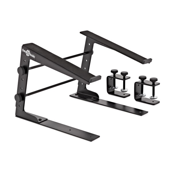 Adjustable DJ Laptop Stand by Gear4music