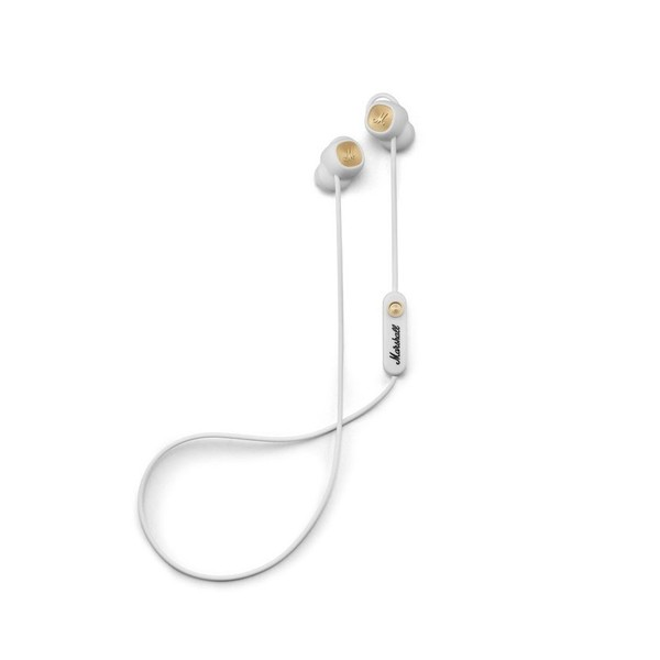 Marshall Minor II Bluetooth In-Ear Headphones, White - Full Set