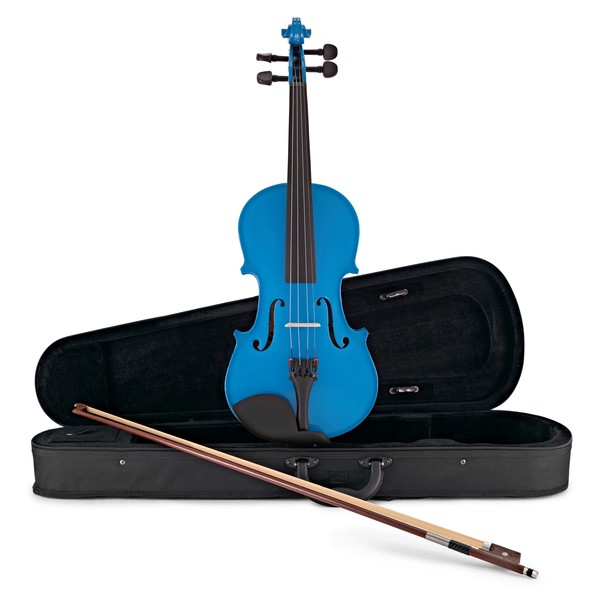 Student Full Size Violin, Blue, by Gear4music