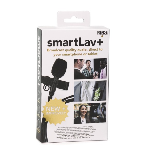 Rode SmartLav+ Lavalier Microphone for Smartphones - Box