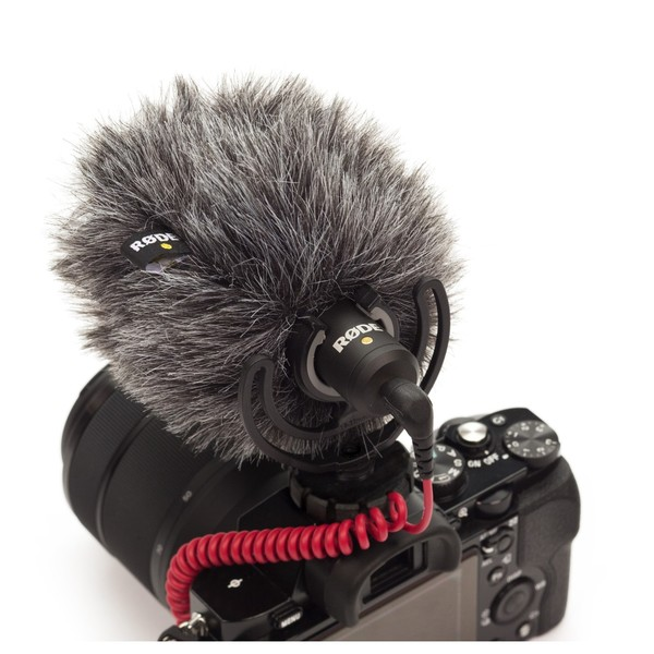 Rode VideoMicro Compact On-Camera Microphone - Windshield (camera not included)