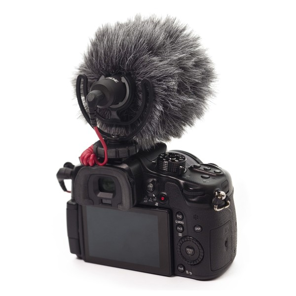Rode VideoMicro Compact On-Camera Microphone - Windshield application (camera not included)