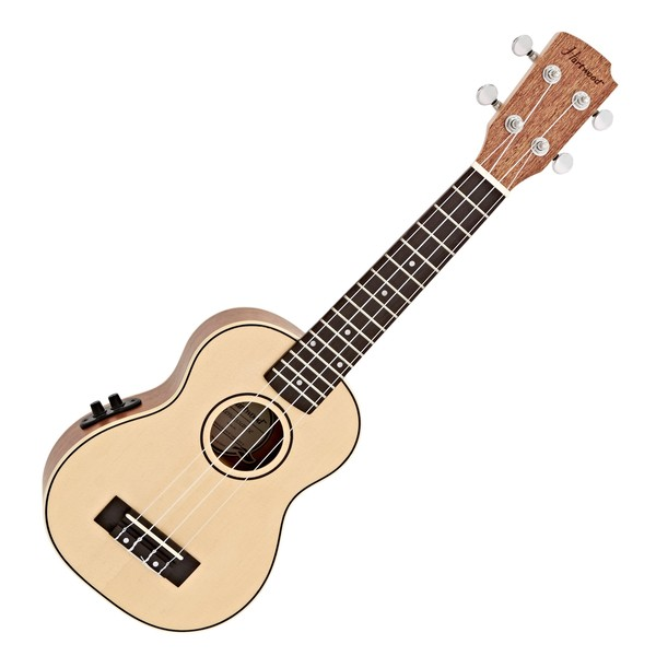 Hartwood Renaissance Electro Acoustic Soprano Ukulele, Natural close