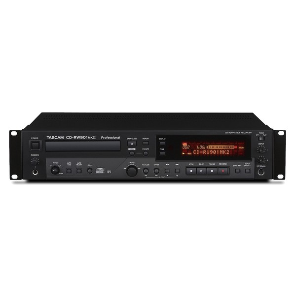 Tascam CD-RW901MKII Professional Audio CD Recorder - Front View