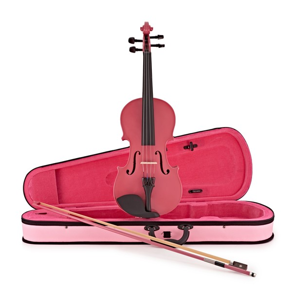 Student 3/4 Violin, Pink, by Gear4music