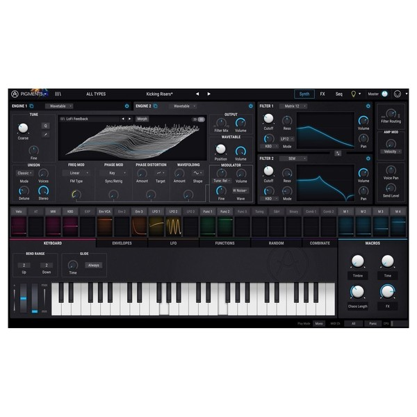 Arturia Pigments Wavetable Software Synthesizer - Main